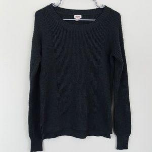 Mossimo Dark Gray Knit Crew Neck Sweater M